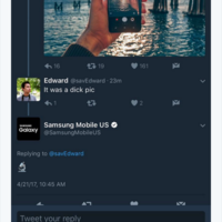 Samsung absolutely roasted this lad on Twitter over his 'dick pic'