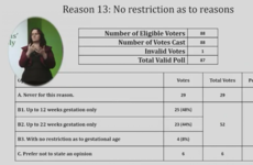 Citizens' Assembly recommends abortion to be allowed without restrictions up to 12 weeks