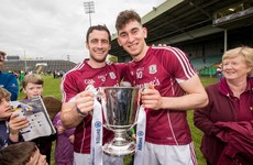 Firing two goals and winning a first hurling medal with Galway in six years