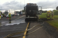 Traffic back to normal after truck catches fire on Naas Road