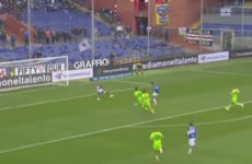 Sampdoria striker embarrasses defender with Bergkamp-esque goal