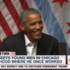 Everyone is loving Obama's opening line on his return to public life yesterday