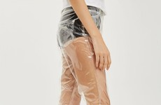 Topshop is selling these 'clear plastic jeans' for €76 and enough is enough