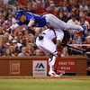 One of the Toronto Blue Jays made an amazing flip over another player to score last night