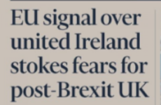 The potential for a united Ireland is on the front page of the Financial Times