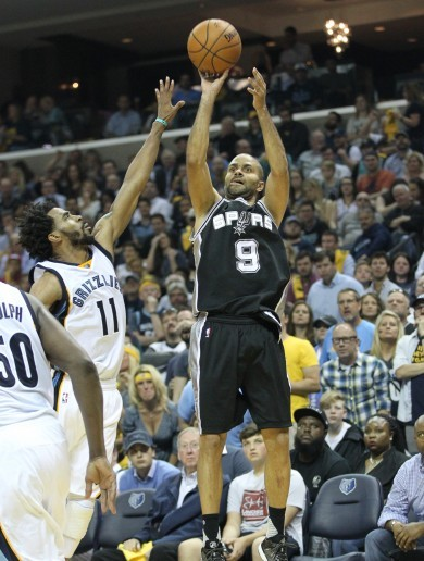 Veteran Tony Parker at his most efficient as Spurs finish off Grizzlies