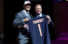 Garrett 1st pick of NFL Draft, but Trubisky leads night of QB drama