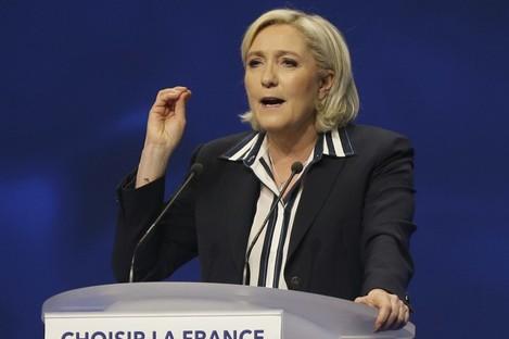 Marine Le Pen faces off against Emmanuel Macron on Sunday week.