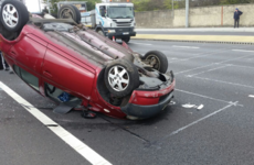 Overturned car on N7 cleared after causing severe traffic delays