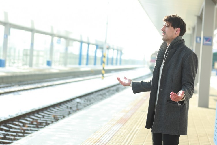 This handsome man is a stock image, and that's not an actual DART station. If you must, please look below for a picture of a DART.