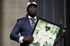 'Fine me later:' Falcons draft pick drops f-bomb in emotional tribute speech to late grandmother