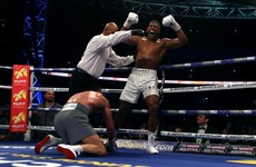 Anthony Joshua knocks out Wladimir Klitschko in world heavyweight epic