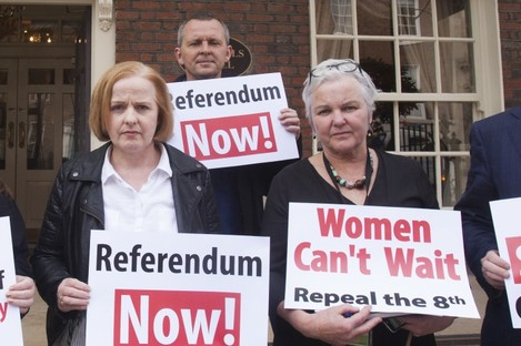 Ruth Coppinger, Brid Smith, Richard Boyd Barrett have called for a referendum on abortion to be held by October.