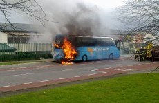 Aircoach bus catches fire in Ballinteer