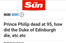 The Sun has mistakenly reported that Prince Philip has died