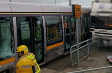 Luas passengers hospitalised after early morning crash with truck