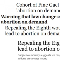 A message to Irish politicians - stop using the phrase 'abortion on demand'