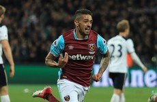 Hammer blow: Lanzini leaves Chelsea on the brink of Premier League glory