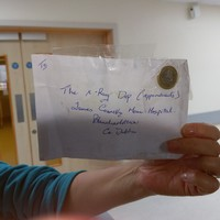 This letter had a euro attached in place of a stamp, but An Post delivered it anyway