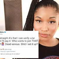 Nicki Minaj helped loads of her fans pay off their college fees over Twitter last night