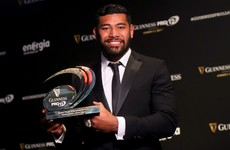 Piutau, Erasmus and Carbery take big gongs at Pro12 awards