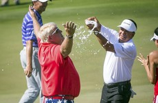 John Daly won for the first time since 2004 last night and celebrated in the only way he can