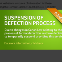 Church defection website suspends service over legal vagueness