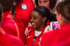 Simone Biles had a biting response for a TV host who asked why she wasn't smiling