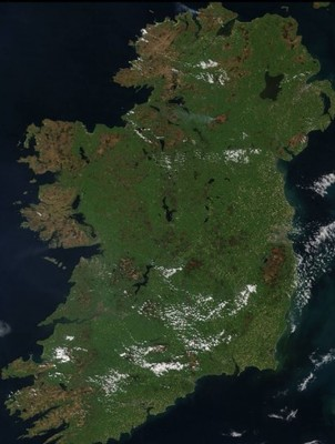 Map Of Ireland On Your Face.Nasa Has Taken An Aerial Photo Of Ireland S Gorse Fires As Public