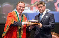 A humbled Ronan O'Gara receives Freedom of Cork City