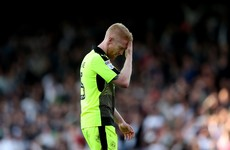 Paul McShane sent off for reckless challenge in delicately-poised play-off semi-final