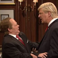 Last night's SNL featured Donald Trump giving Sean Spicer a Godfather-style kiss of death