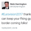 Tory councillor suspended following racist anti-Irish tweet during Eurovision