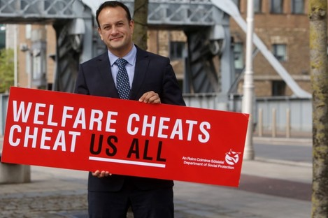 Minister Leo Varadkar launching the campaign.