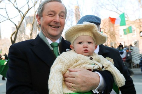 Enda takes part in this year's St Patrick's parade in New York.