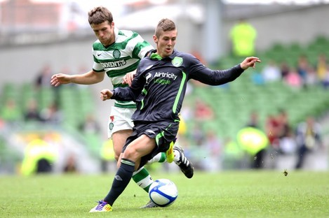 Kearns playing for an Airtricity XI at the Aviva last July.