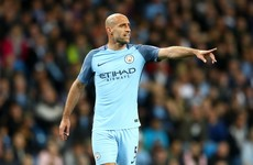 Champions League spot all but secured as Man City celebrate Zabaleta