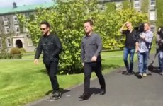 Ant and Dec were spotted on campus in Maynooth and it looked like serious craic
