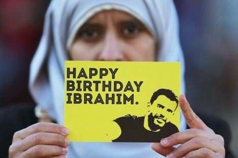 Ibrahim Halawa turned 21 last December. Pictured is his sister Somaia.