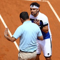 'You're f**king arrogant': Fognini rips into umpire after losing at Rome Masters