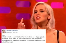 Jennifer Lawrence had a great response to a leaked video of her dancing on a stripper pole