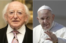 President Higgins will meet Pope Francis in Rome on Monday