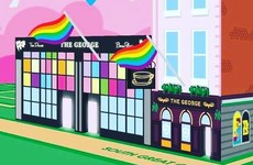 The George had a great response to the homophobic, Nazi vandalism on its wall