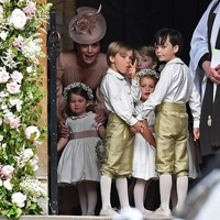 This cheeky page boy gave two fingers to the photographers at Pippa Middleton's wedding