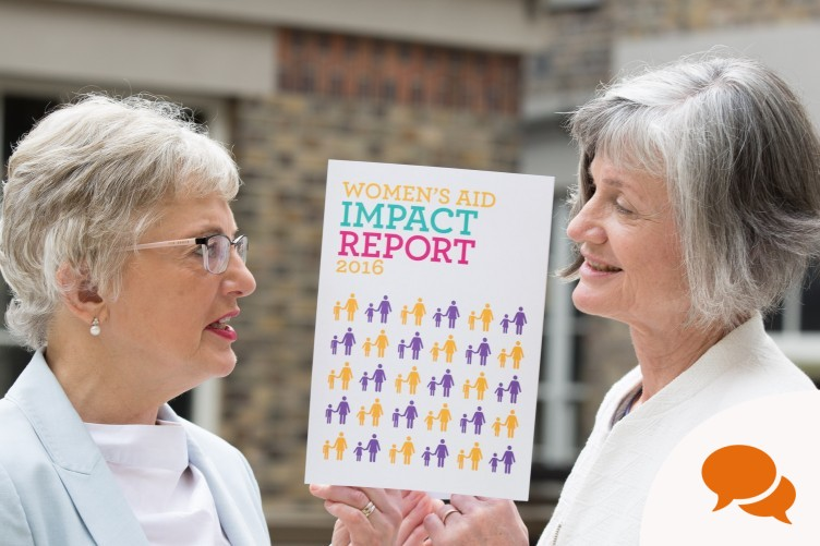 Minister for Children, Katherine Zappone pictured with Margaret Martin, Director, Women's Aid at the launch of Women's Aid Impact report 2016. Pic Paul Sharp/SHARPPIX.