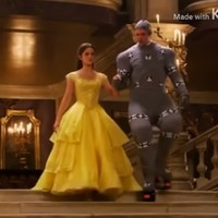 People are loving this new footage of Emma Watson and a ridiculous pre-CGI Beast