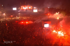 100,000 Ajax fans sing their club anthem after Europa League final defeat