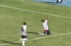 WATCH: Flying Bolivian back-heel goal
