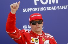 Kimi Raikkonen on pole as Lewis Hamilton struggles