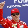 Kimi Raikkonen on pole as Lewis Hamilton struggles
